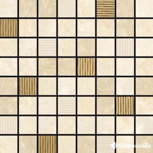 Mosaico Plaza Decor Gold 17.4*17.4 (1.9*1.9) — мозаика
