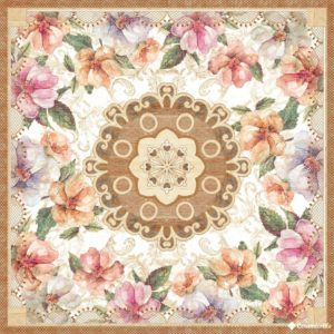 Roseton Bibiana Marfil 56.5*56.5 — декор