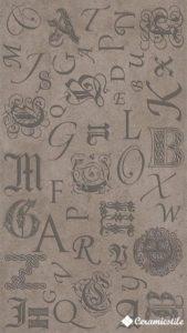 Decor Monograms Chocolate Brilho 32.7*58.6 — декор