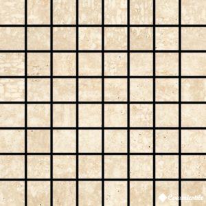 Mosaico Travertino Bianco 17.4*17.4 — мозаика