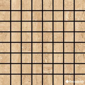 Mosaico Travertino Noce 17.4*17.4 — мозаика