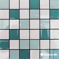 Mosaico Marfil/Aqua/Turquesa Mix-3 30*30 — мозаика