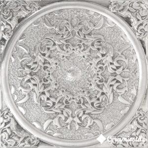 1458 Plox Floresta Satined Black Silver 8*8 — вставка