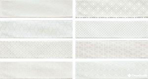 Decor Opal White (8 видов) 7.5*30 — плитка настенная