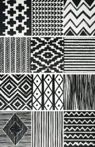 Ethnic Black (4 вида) 25*66.6 — плитка настенная