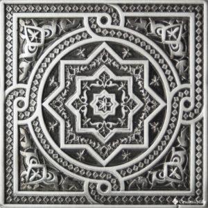 Plox Satined Black Silver 1386 Beni-Mamet 6*6 — вставка