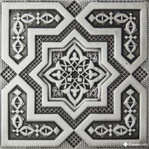 Plox Satined Black Silver 1406 Beni-Maclet 6*6 — вставка