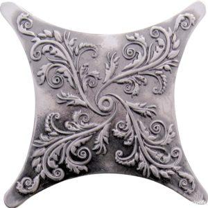 Estrella Set Plox Satined 1704 E1 Black Silver 6.7*6.7 — вставка