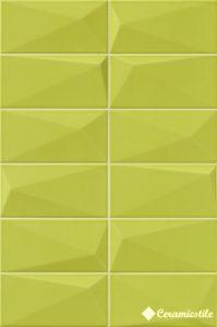 Diamond Y-Green 10*20 — плитка настенная