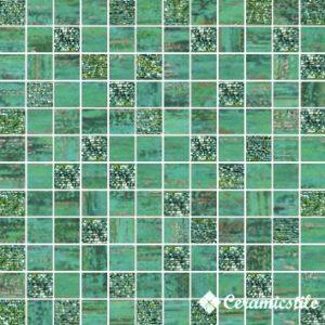 Mosaico Lux Quadretti Verde 30*30 — мозаика