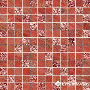 Mosaico Lux Quadretti Rosso 30*30 — мозаика