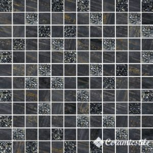 Mosaico Lux Quadretti Nero 30*30 — мозаика