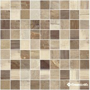 Mosaico Quadrato Sabbia Lappato 30*30 — мозаика