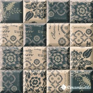 Pillow Blue (12 видов рисунка) 15*15 — плитка настенная