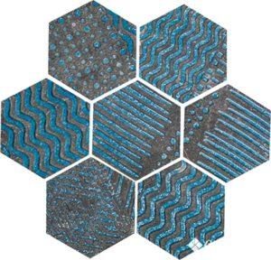 Raku Esagona Turquoise 35.5*37 — декор