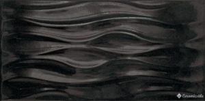 Ola Negro Brillo 25*50 — плитка настенная