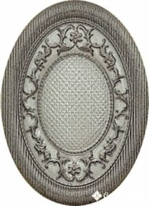 Medallon Yute Bronce-Beige 10*14 — декор