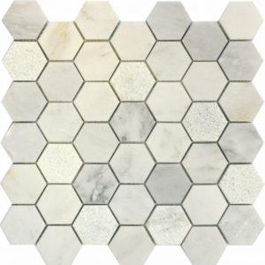 QS-Hex003-3f-48P/10 30.5*30.5 — мозаика полированная