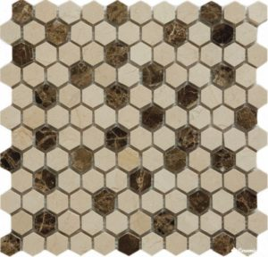 QS-Hex027-25P/10 30.5*30.5 — мозаика полированная