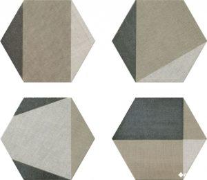Hextangram Fabric Taupe (10 видов рисунка) 28.5*33 — керамогранит
