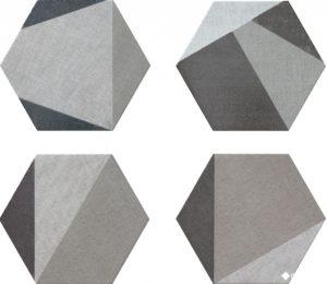 Hextangram Fabric Grey (10 видов рисунка) 28.5*33 — керамогранит