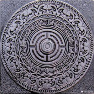 Creta Satined Black Silver 8*8 — вставка