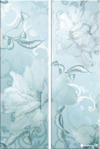 Декор Santorini Fiore Azul (комплект 2 пл) 75*50 — декор