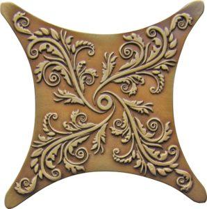 Estrella E1 Satined brown brass 6.7*6.7 — вставка