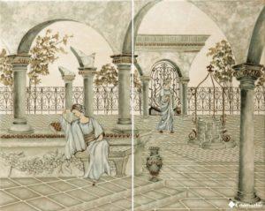 Classic Decor Garden Verde Alpi (комплект 2 плитки) 40.4*50.4 — декор