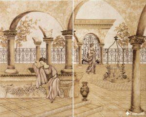 Classic Decor Garden Emperador (комплект 2 плитки) 40.4*50.4 — декор