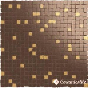 Mos. Details Brown-Oro (1*1) 31.5*31.5 — мозаика