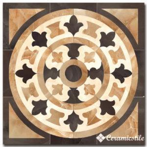 roseton damore dark pulido (rect) 116,8×116,8 декор