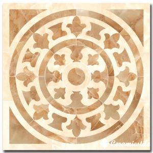 roseton damore beige pulido (rect) 116,8×116,8 декор