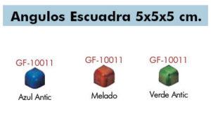 angulo escuadra 5×5 — azul, blanco, melado, verde