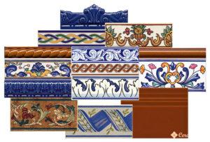 элементы оформления — бордюры, фризы, цоколи и др.