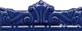 moldura gotica azul antic 7,5×20