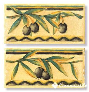cenefa olivo amarillo 7×15 — бордюр