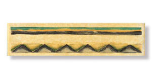 listelo olivo amarillo 3,5×15 — бордюр