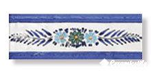 cenefa campanella blu 7×20 — бордюр